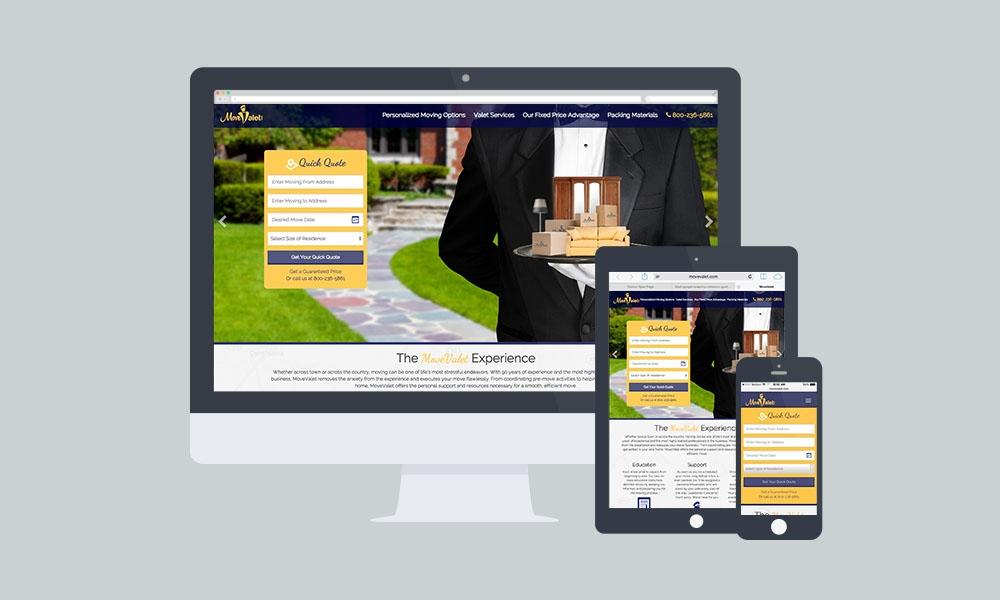 MoveValet Web Design